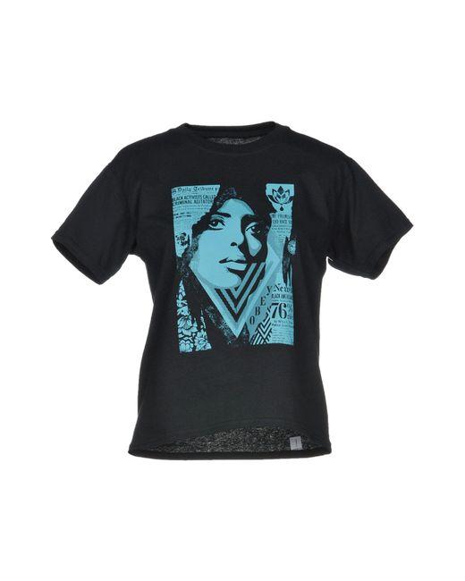 Obey - Black T-shirt - Lyst