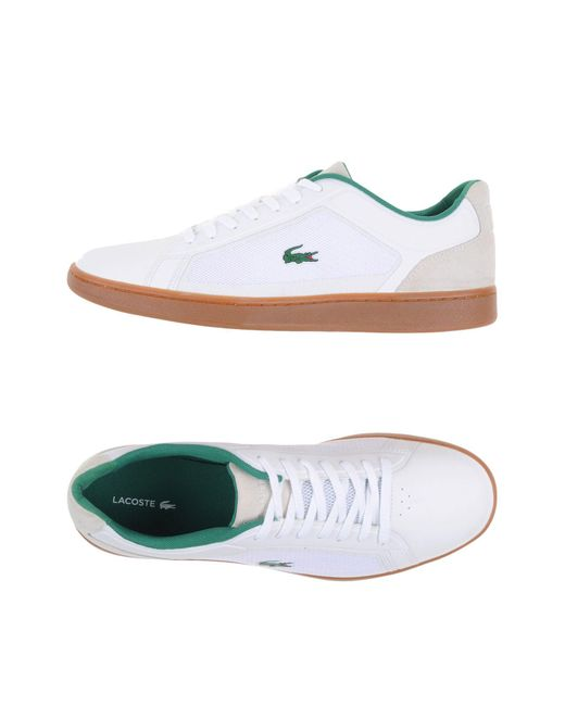 Lacoste - White Low-tops & Sneakers for Men - Lyst