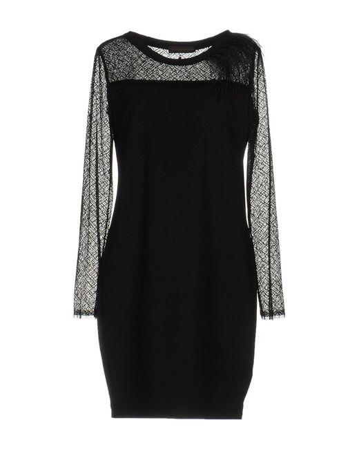 Trussardi - Black Short Dress - Lyst