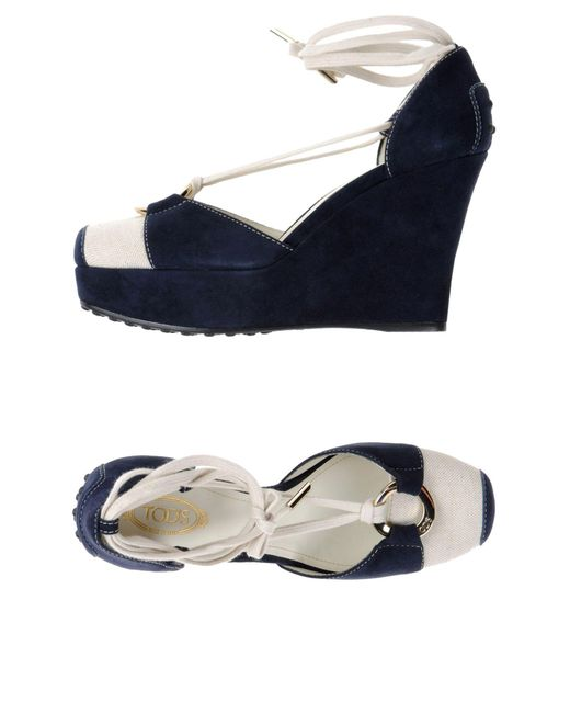 Tod's - Blue Sandals - Lyst