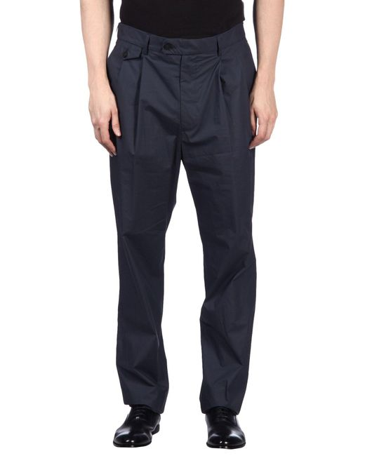 Emporio Armani - Blue Casual Pants for Men - Lyst