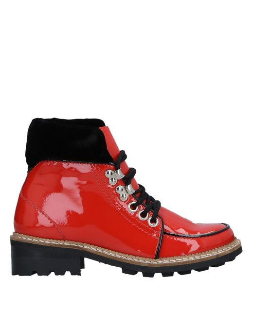 Ganni - Red Ankle Boots - Lyst