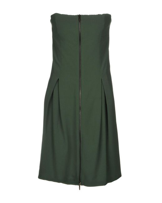 Manila Grace - Green Short Dress - Lyst