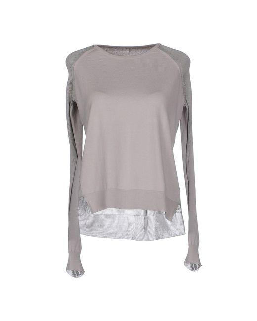 MM6 by Maison Martin Margiela - Gray Sweaters - Lyst