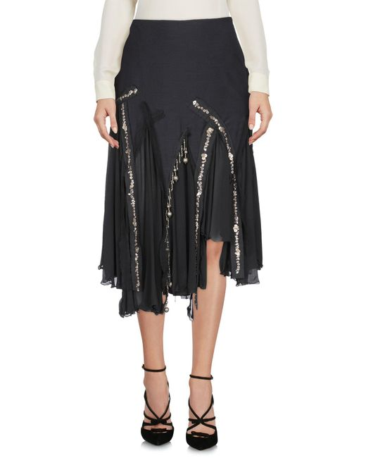 Amen - Black 3/4 Length Skirt - Lyst