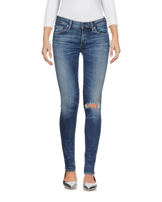 Citizens of Humanity - Blue Denim Trousers - Lyst