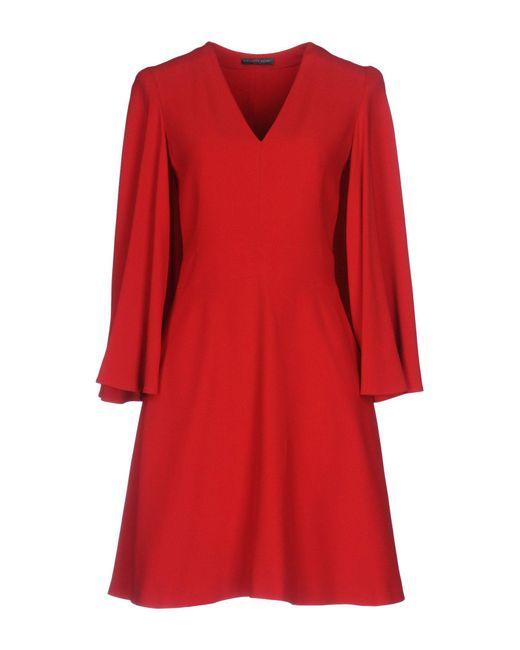 Alexander McQueen | Red Short Dress | Lyst