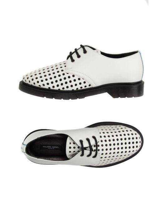 Philippe Model - White Lace-up Shoes - Lyst