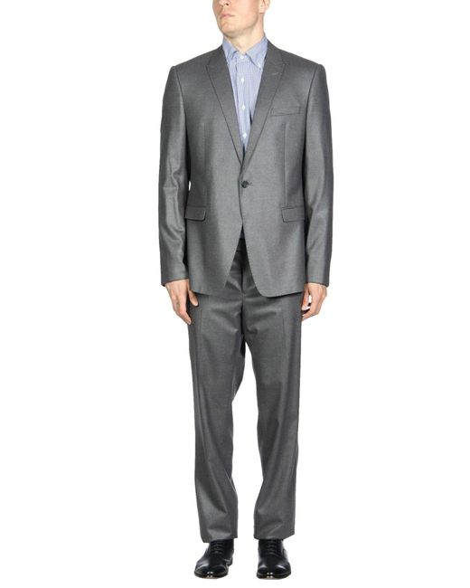 Emporio Armani - Gray Suits for Men - Lyst