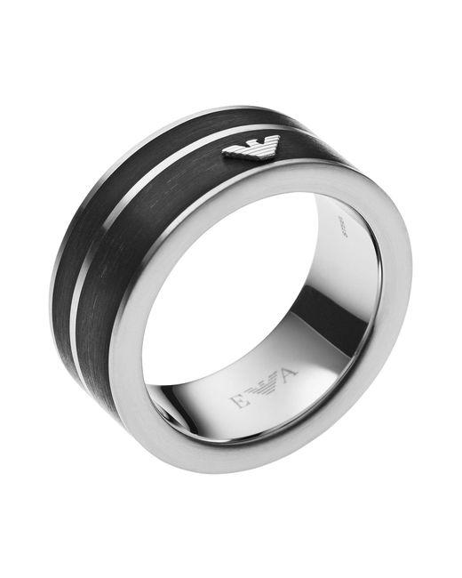 Emporio Armani - Black Ring for Men - Lyst