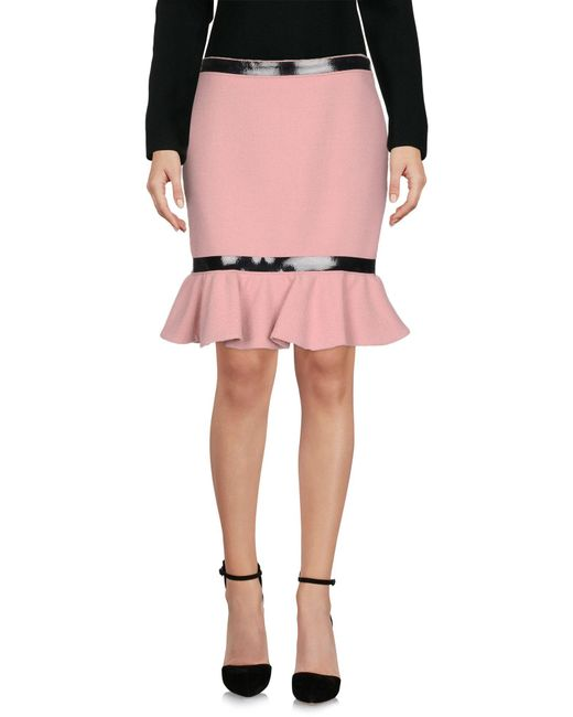 Moschino - Pink Knee Length Skirt - Lyst
