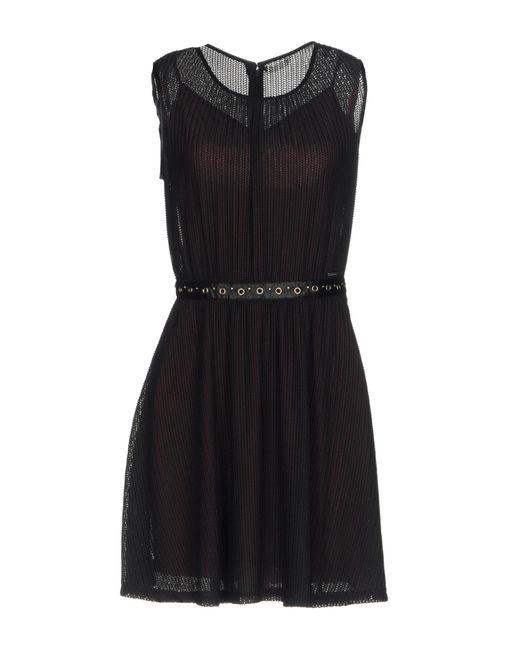 Guess - Black Short Dresses - Lyst