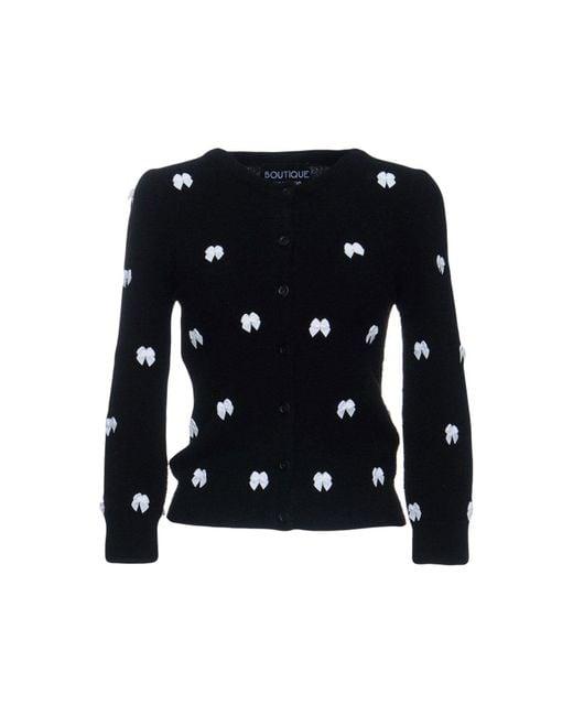 Boutique Moschino - Black Cardigan - Lyst