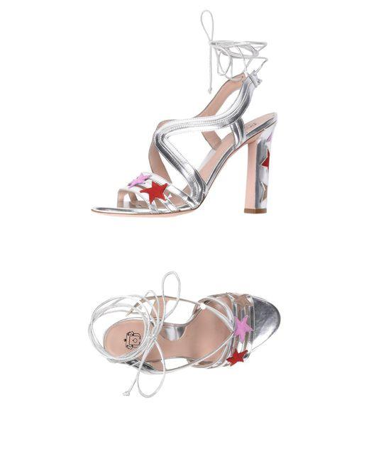 Paula Cademartori - Metallic Sandals - Lyst