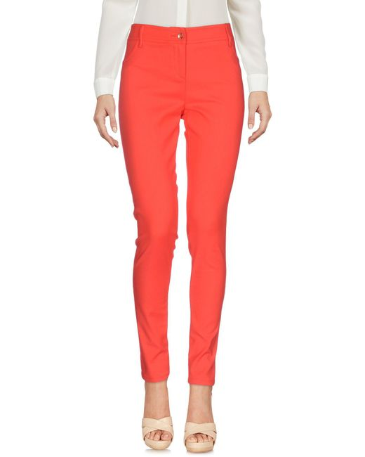 Guess - Red Casual Trouser - Lyst