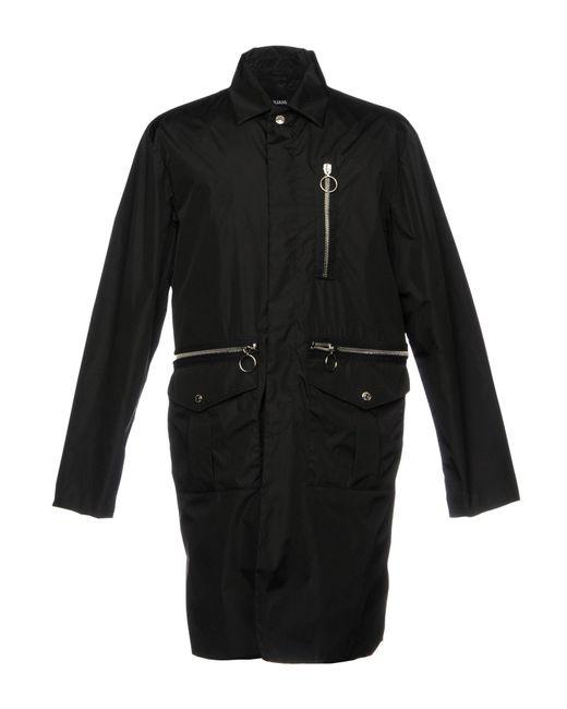 DSquared² - Black Overcoat for Men - Lyst
