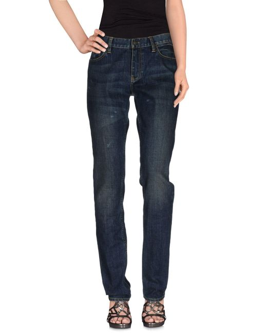 Ralph Lauren - Blue Denim Pants - Lyst