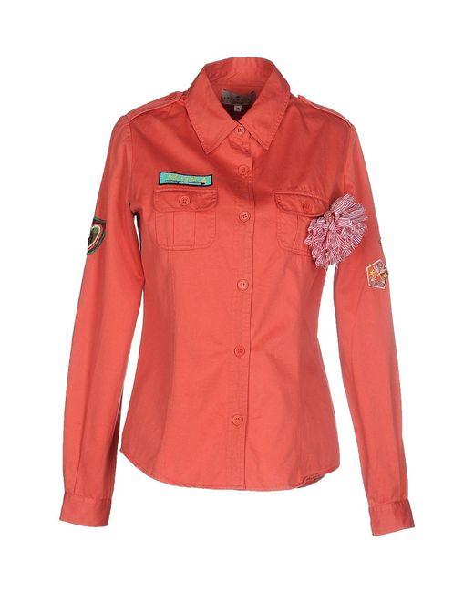 Essentiel Antwerp - Orange Shirt - Lyst
