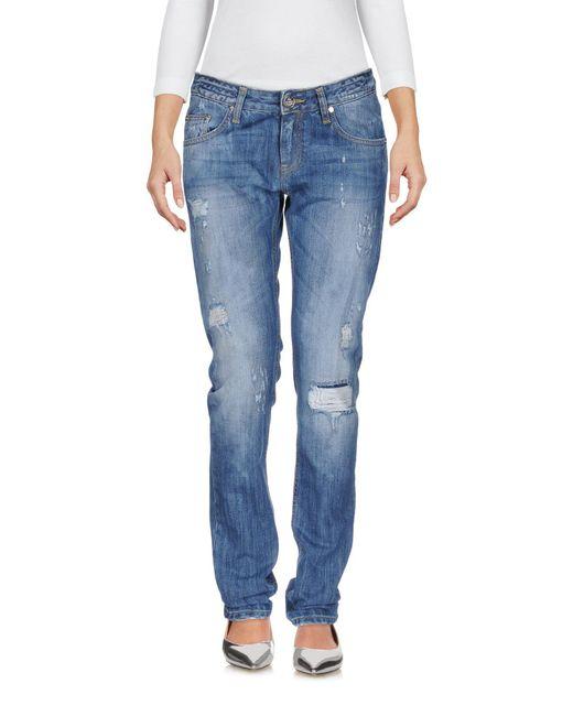 Frankie Morello - Blue Denim Trousers - Lyst