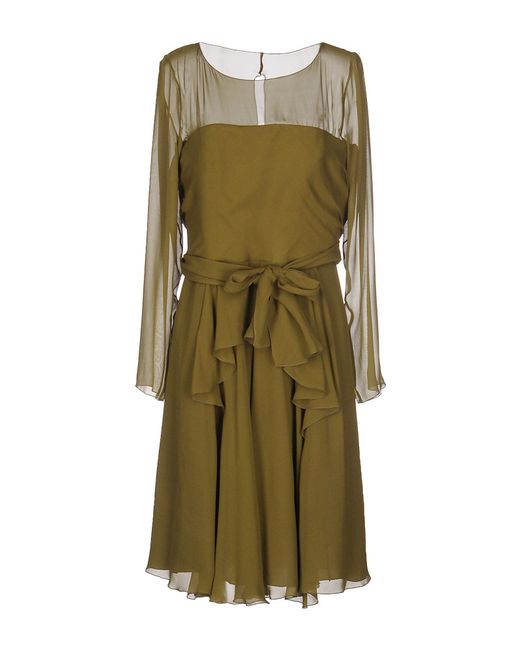 Alberta Ferretti - Multicolor Knee-length Dress - Lyst