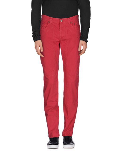Jeckerson - Red Casual Pants for Men - Lyst