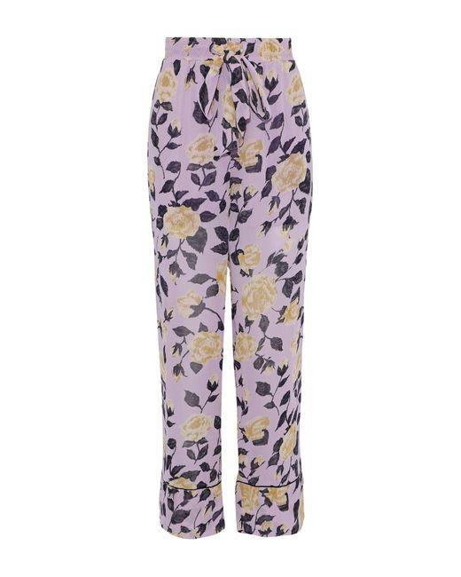Ganni - Purple Casual Trouser - Lyst