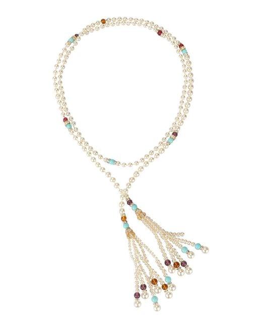 Ben-Amun - White Necklace - Lyst