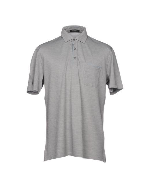 Ermenegildo Zegna - Gray Polo Shirt for Men - Lyst