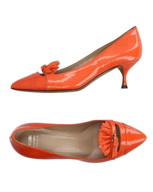 Boutique Moschino - Orange Loafer - Lyst