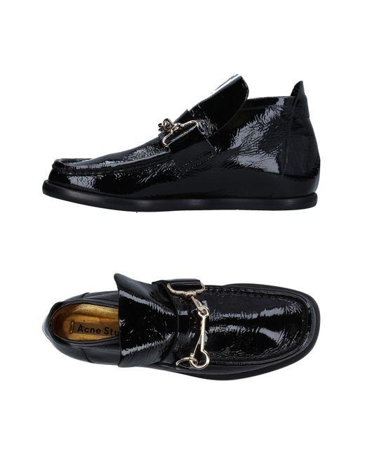 Acne - Black Loafer - Lyst