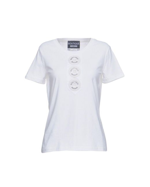 Boutique Moschino - White T-shirt - Lyst