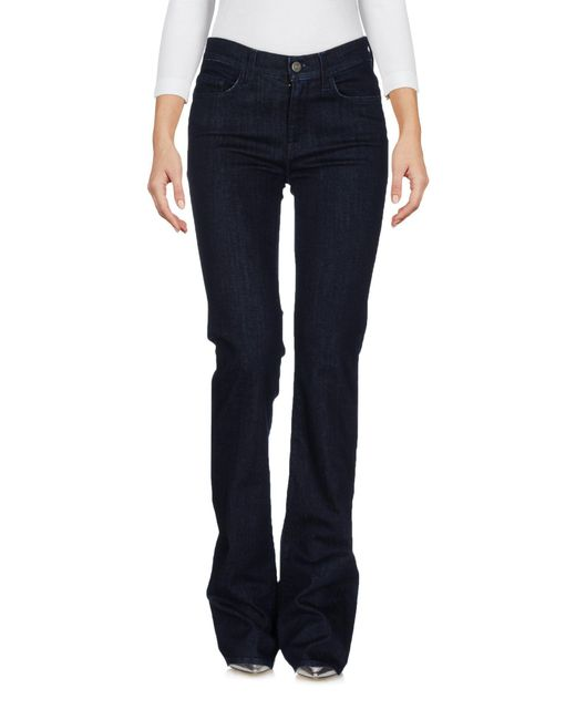 7 For All Mankind | Blue Denim Pants | Lyst