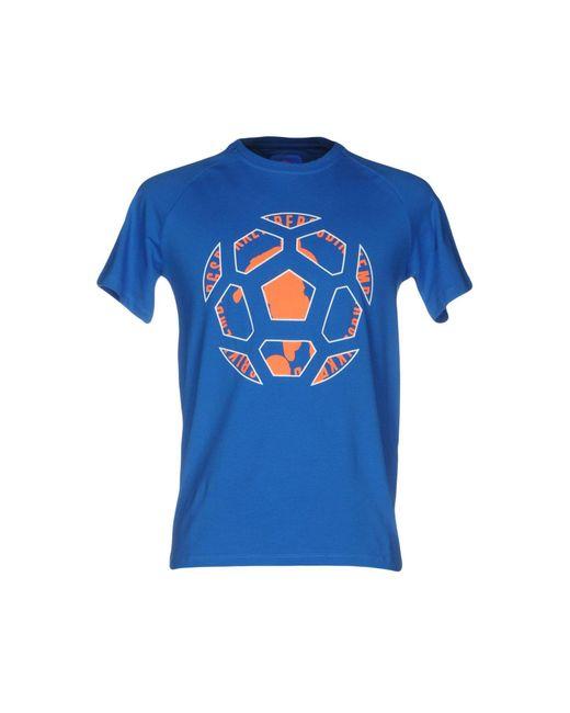 Bikkembergs - Blue T-shirt for Men - Lyst