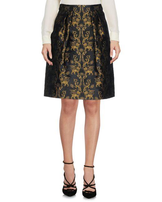 Alberta Ferretti - Black Knee Length Skirts - Lyst