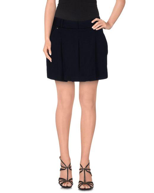 Alexander Wang - Blue Mini Skirt - Lyst