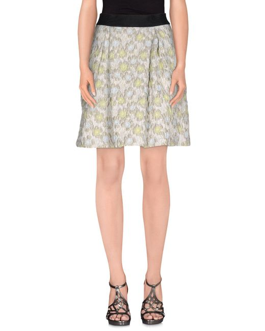 Pinko - Gray Knee Length Skirt - Lyst