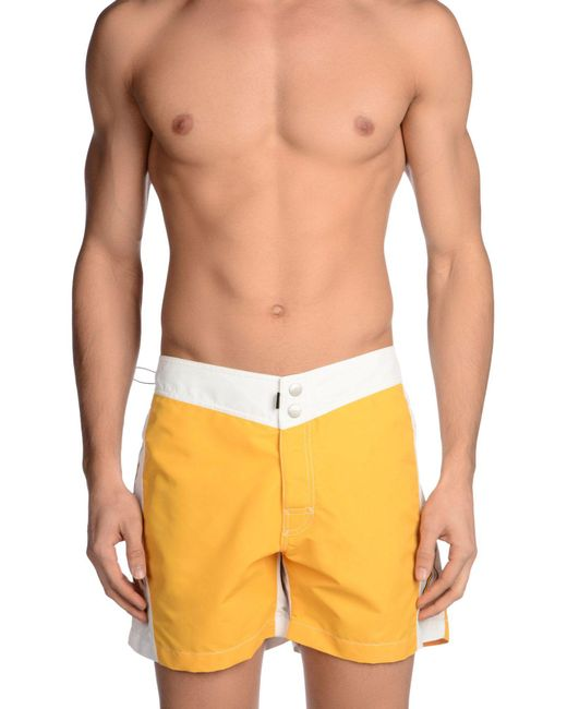 Rrd - Yellow Short de bain for Men - Lyst