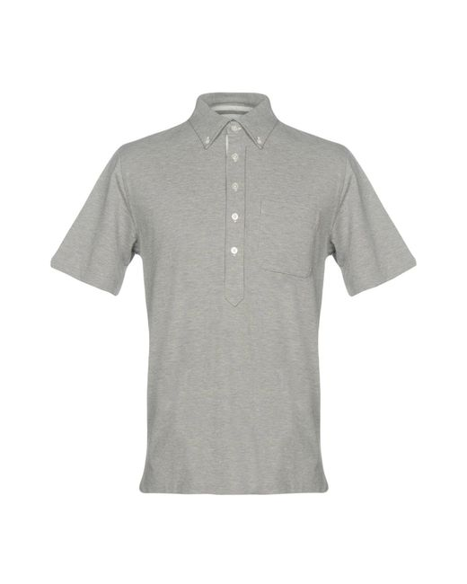 Black Fleece By Brooks Brothers - Gray Polo Shirts for Men - Lyst