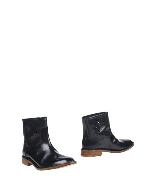 Buttero Black Ankle Boots