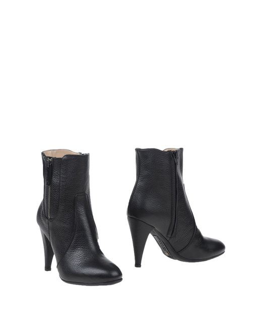 Alessandro Dell'acqua - Black Ankle Boots - Lyst