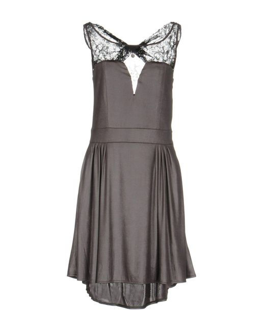 Guess - Gray Short Dresses - Lyst