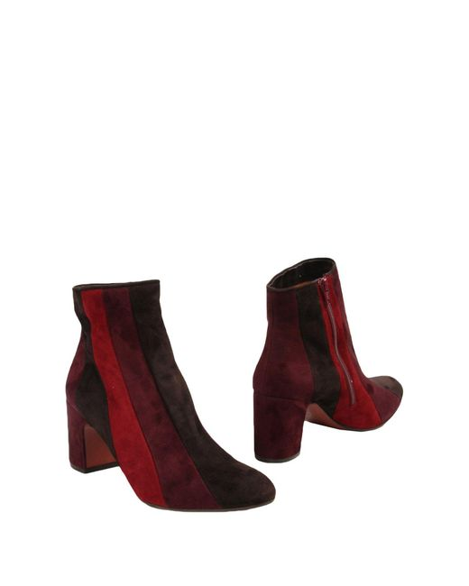 Chie Mihara - Red Ankle Boots - Lyst