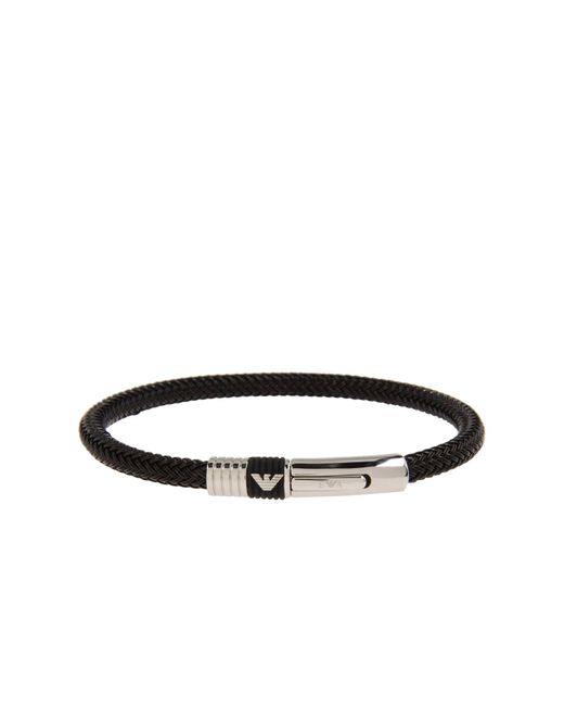 Emporio Armani   Black Bracelet for Men   Lyst