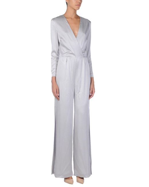 INTROPIA - Gray Jumpsuit - Lyst