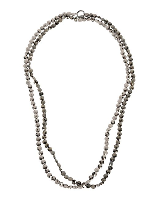 Brunello Cucinelli | Gray Necklace | Lyst
