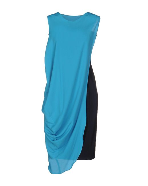 Frankie Morello | Blue Knee-length Dress | Lyst
