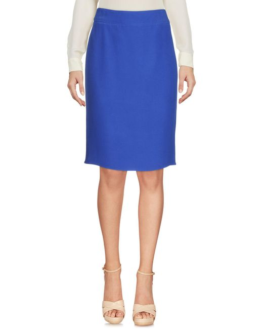 Armani - Blue Knee Length Skirt - Lyst