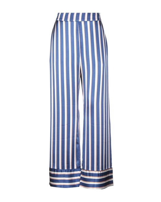 Numph - Blue Casual Trouser - Lyst