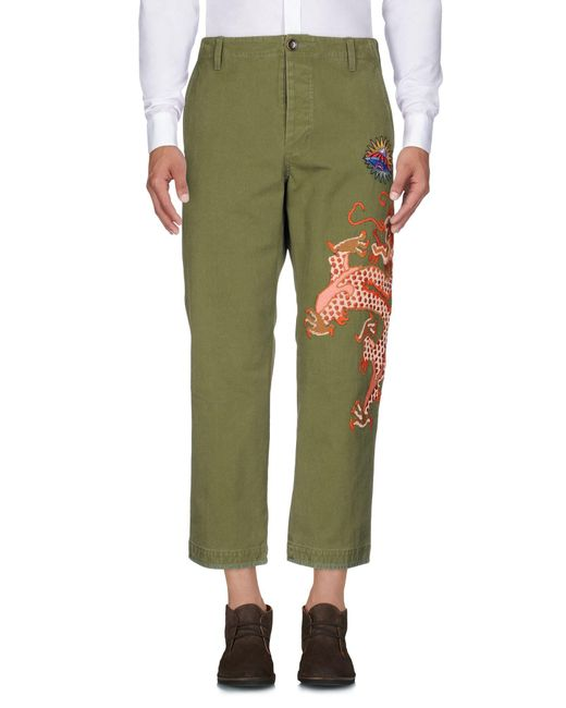 Gucci Green Casual Pants for men