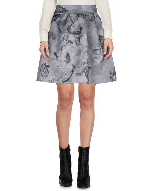 Moschino - Blue Mini Skirt - Lyst